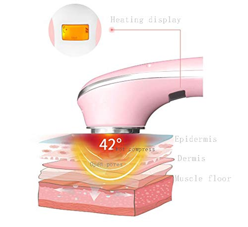 Anti Aging Face Massager for Wrinkles Appearance Removal & Facial Skin Tightening | Boost Effects of Face Cream & Serum | Anti Wrinkle Skin Care & Facial Toning Massage Device,Pink by SVIVI (Image #4)
