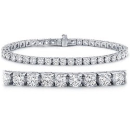 Diamond 14k Gold Tennis Bracelet - 7