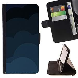 Momo Phone Case / Flip Funda de Cuero Case Cover - Nubes Patrón;;;;;;;; - HTC One Mini 2 M8 MINI