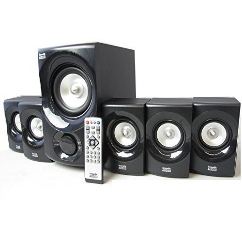 Acoustic Audio AA5171 5.1 Surround Sound Bluetooth Home Entertainment System (Best Pc Surround Sound System)