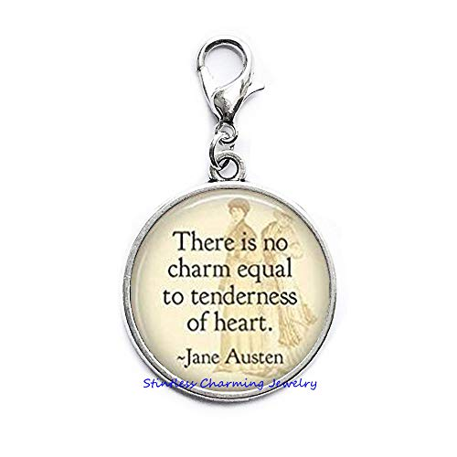 - There is no Charm Equal to Tenderness of Heart Zipper Pull,Book Zipper Pull,Quote Zipper Pull Book Jewelry,Quote Zipper Pull,Book Lover Gift,Bookworm Zipper Pull - Reading Quote-JP361