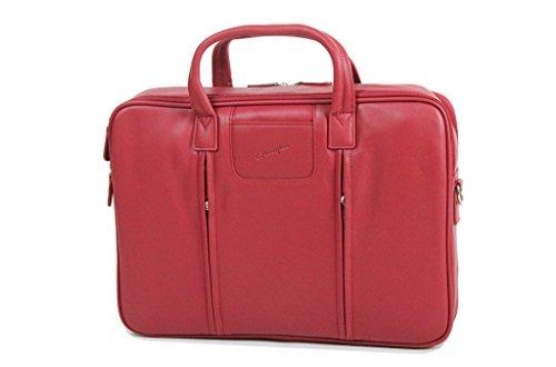 Duragadget-Soporte para ordenador, Gérard Hénon piel de vaqueta lisa GH13204 flexible Rojo - rojo