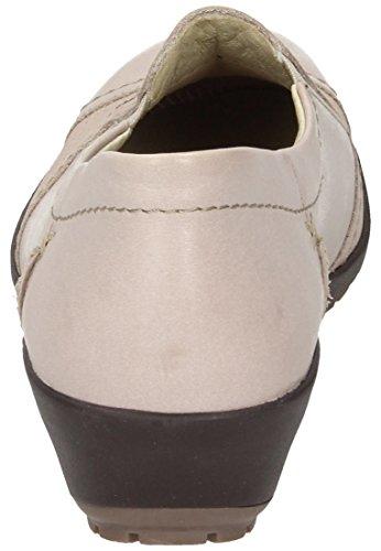 3 Beige Comfortabel Slipper Weiß Damen 942176 XqxICwWpI