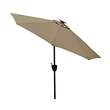 Patio   Umbrella Large Outdoor Adjustable Parasol W/Cantilever Base Stand    Best Sun Uv