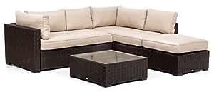 My _ Garden m0858–22Juego Panama Lounge Café, 225x 215x 64cm, marrón