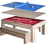 Amazoncom Fusion Pool Table And Dining Table Convertible Pool - Pool table and dining table combination