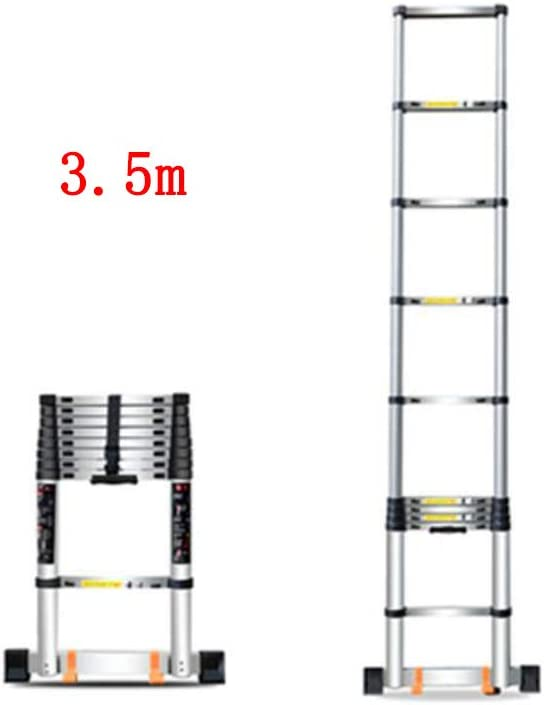 GLJJQMY Escalera Plegable Inicio telescópica Subida y caída ingeniería Escalera Recta portátil de Aluminio Engrosamiento (Size : 3.2m): Amazon.es: Hogar