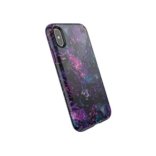 Speck Products Presidio Inked iPhone Xs/iPhone X Case, GalaxyFloral/Cala Purple ()