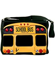 Back Of A Yellow School Bus Messenger Bag - - Shoulder Bag - With Matching coin Purse