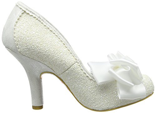 Schwarz Irregular Ascot White Choice Damen Weiß Pumps 81wSIqfx1