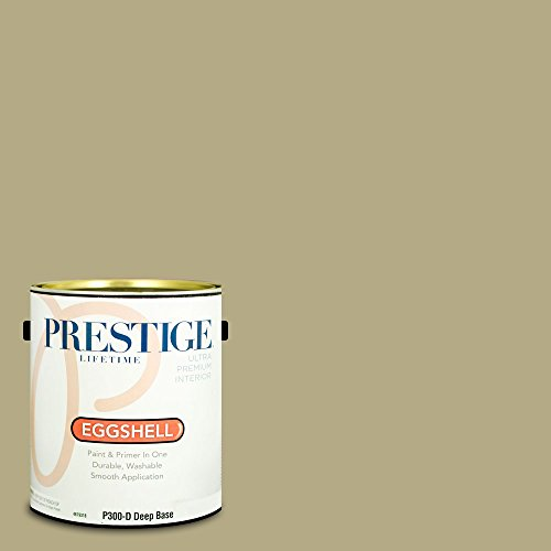 rior Paint and Primer In One, 1-Gallon, Eggshell,  Comparable Match of Benjamin Moore Baby Turtle ()