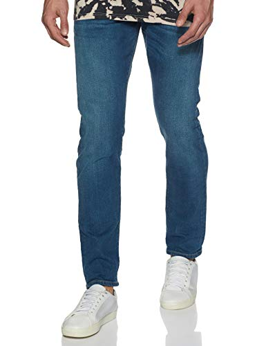 Scotch & Soda Men's Ralston Blauw Touch Regular Slim fit, 38/34