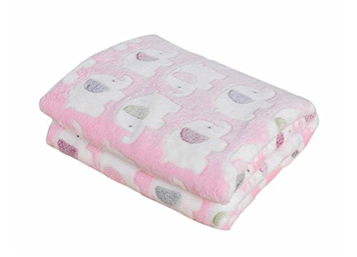 Freerun Pet Dog Cat Puppy Kitten Soft Blanket Warm Bed Mat Animal Figure Print Cushion - Pink Elephant, L