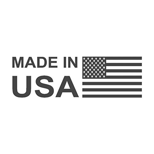 MADE IN USA with flag, pre-inked office rubber stamp , Style