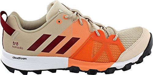 adidas Outdoor Women's Kanadia 8 TR Trail Running Shoe, Linen/Col. Burgundy/Glow Orange, 8 M US Tr Trail Running Shoes