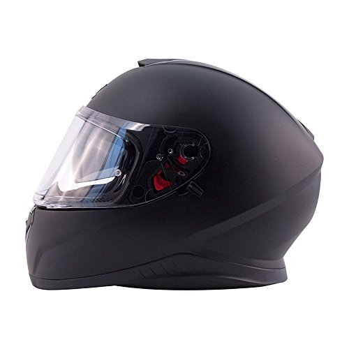 Zox Air (Zox Z-FF10 SVS Mens Street Motorcycle Helmet - Matte Black - Large)