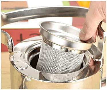 DBL Specchio in acciaio inox super spessa teiera casa piccolo teiera ristorante bollitore tè ristorante dell'hotel con teiera con filtro teiera Bollitore (Capacity : 2L)
