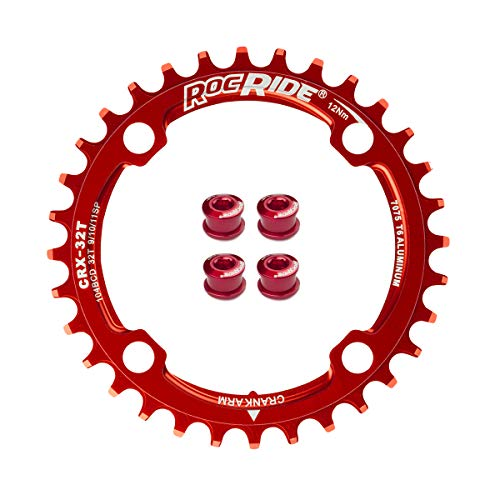 RocRide Narrow Wide Chainring 104 BCD for 9/10/11 Speed with 4 Bolts