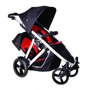 phil&teds Doubles Kit for Verve Stroller, Black/Red by phil&teds