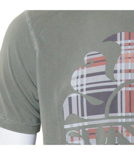 "Sundek T-Shirt ""Logo Check"", olive Grösse XL"