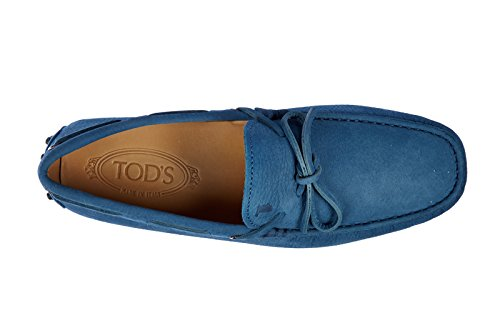 b5bffd045a7 Tod s men s leather loafers moccasins laccetto occhielli gommini 122 enk  blu US size 7.5 XXM0GW05470ENKT606
