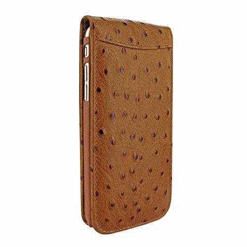 Piel Frama 689 Tan Ostrich Magnetic Leather Case for Apple iPhone 6 Plus / 6S Plus by Piel Frama (Image #1)