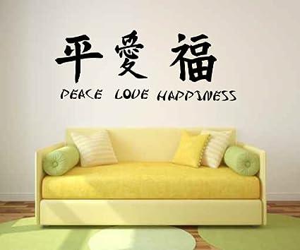 Amazon Peace Love Happiness Chinese Zodiac Symbol Vinyl Wall