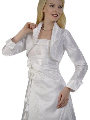 Austen - 1500 Bolero para modelos de vestido de novia blanco gr, 38 - 62 _AONEWLINEAO_ Weiß (mit zart schimmernden Pailletten)
