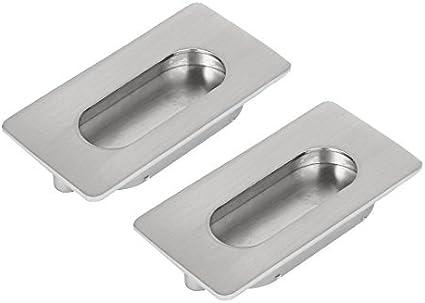 DealMux 64mm espaciamiento rectangular uñeros del gabinete del cajón deslizante manija de la puerta 2 piezas: Amazon.es: Bricolaje y herramientas