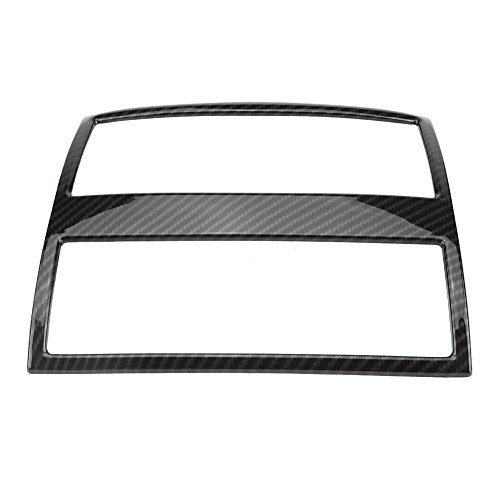 Qiilu Rear Air Conditioning Vent Outlet Frame Cover Trim for BMW 5 Series F10 F18 2011-2017(Black)