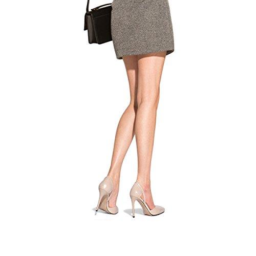 Damesko Foråret Lædersko Med Høje Hæle Individuelle Sko Kvindelige Akutte Stiletter Pumps Flad Mund Damesko Abrikos (9.7cm) mDTRJJz