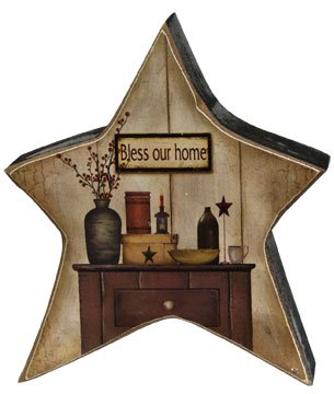 buy primitive decor online bcd bless our home sign farmhouse antiqued 10507