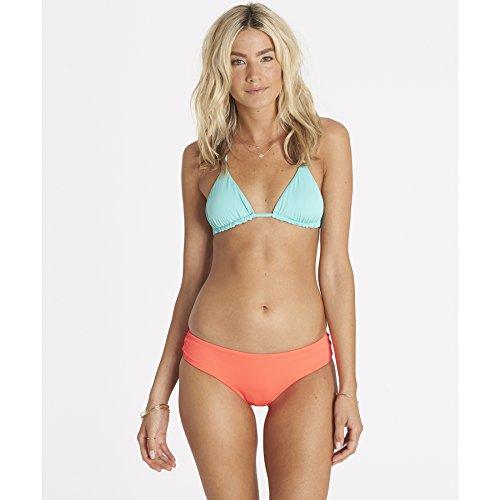 Billabong Women's Sol Searcher Strappy Back Triangle Swimsuit Bikini Top, Pool Blue, (Slide Bra Bikini Top)