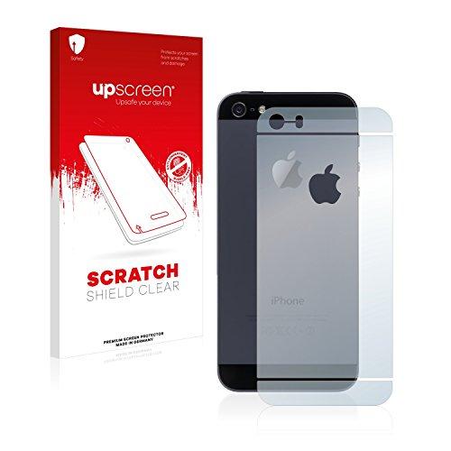 upscreen Scratch Shield Pellicola Protettiva Apple iPhone SE Posteriore (totale + LogoCut) Protezione Schermo – Trasparente, Anti-Impronte