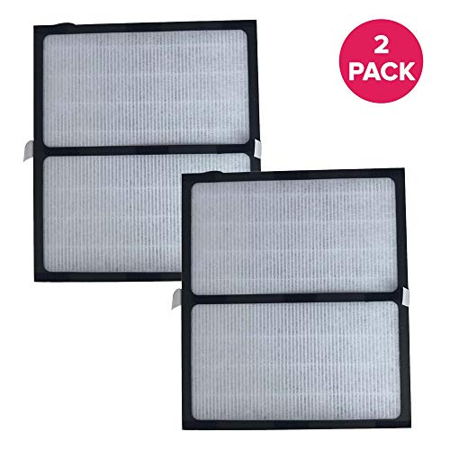 Crucial Air Replacement Parts Compatible with Idylis Air Purifier Filter Part IAP-10-280 and Model IAF-H-100D - HEPA Style Filters For Home, Office - Air Purifier to Reduce Room Odor, Smell (2 Pack)
