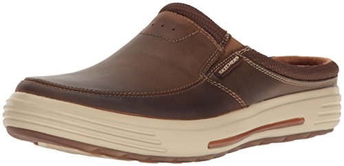 Skechers Mens Clogs - Skechers USA Men's Porter Vamen Slip-on Loafer,10 M US,Brown