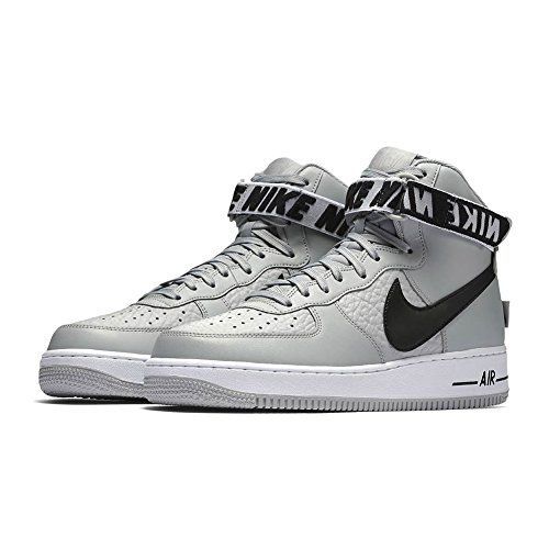 Nike Men's Air Force 1 High '07 Basketball Shoe, Flt Silver/Black-White, 11