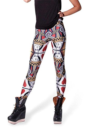 Queen Of Hearts Clothes - Tamskyt Women's High Waist Digital Printted