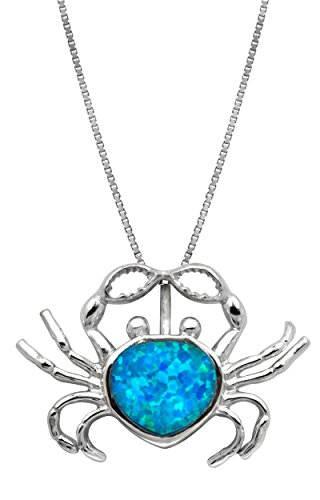 Sterling Silver Simulated Pendant Necklace