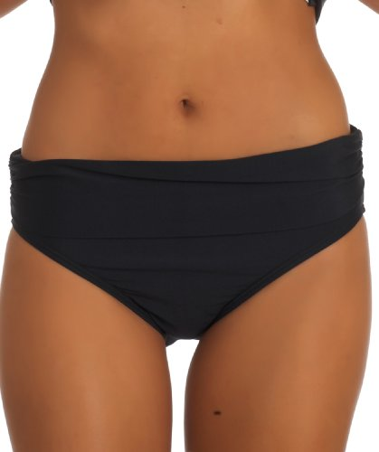 ATHENA Women's Heavenly Banded Bikini Bottom, Black, 8