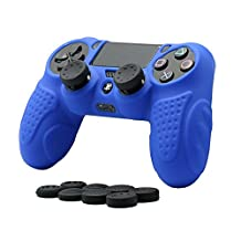 CHINFAI PS4 Controller Skin, Silicone Grips Cover Protector Cover Case for Sony PlayStation 4 Game Controller (Blue)
