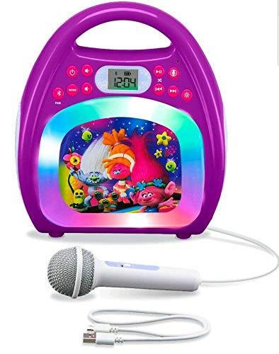 eKids Trolls MP3 Karoke with Light Show Bluetooth