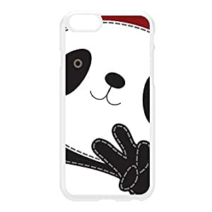 Peace Panda White Hard Plastic Case for iPhone 6 by Gadget Glamour + FREE Crystal Clear Screen Protector