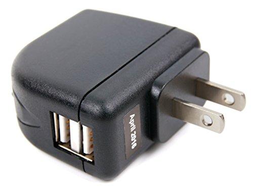 Für Ihre AUKEY EP-B4-G Bluetooth, EP-B4-S | AUVI QY19 Bluetooth Kopfhörer: Multi-USB-Ladestecker | Charger | Stromversorgung von der Steckdose mit 2 Standard-USB-Ausgängen - für den Einsatz in den USA