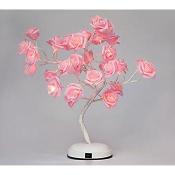 Amazon.com: Finether Table Lamp Adjustable Rose Flower Desk Lamp ...