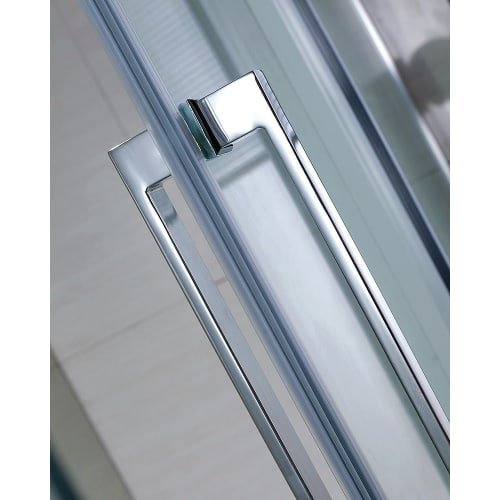 Miseno MSDC6082 81-1/2'' High x 56 - 60'' Adjustable Wide Frameless Shower Door fo, Chrome / Clear