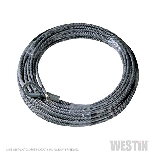 T-MAX 47-3610 Steel Winch Cable 94' for winches up to 9500lb load rating ()