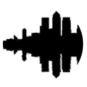 alfombrilla de ratón Docklands Londres horizonte reflejadas - ronda - 20cm