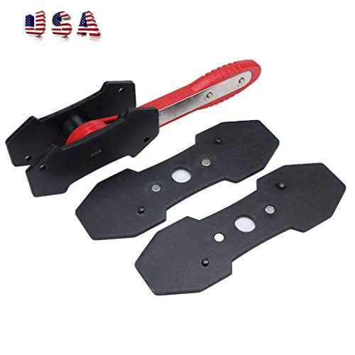 Brake Caliper Press Ratchet, Universal Car Ratcheting Caliper Piston Tool Spreader Press Tool with 2 pcs Steel Plates (As Show)