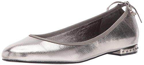 Adrianna Papell Womens Brianne Ballet Flat Gunmetal Spiga Leather